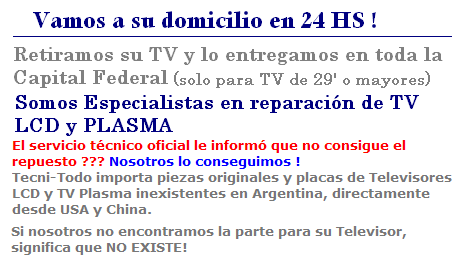 Vamos a domicilio TV LED y Smart TV Sony